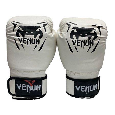 Luva de Boxe / Muay Thai 14oz New Contender - Branco - Venum