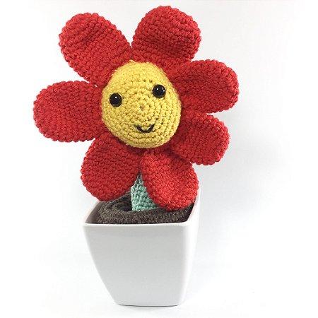 Amigurumi Flor Lila