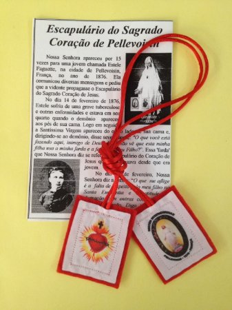 ESCAPULÁRIO DO SAGRADO CORAÇÃO (PELLEVOISIN)