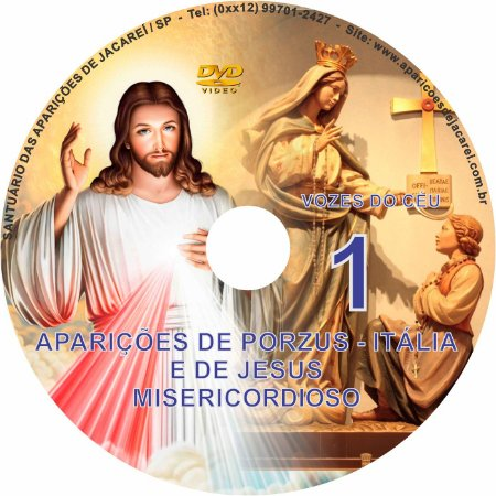 DVD VOZES DO CÉU 01- Filme das Aparições de Porzus - Itália e de Jesus Misericordioso à Santa Faustina