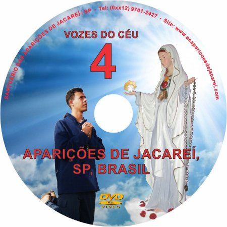 DVD VOZES DO CÉU 04- Filme 2 das Aparições de Jacareí ao Vidente Marcos Tadeu