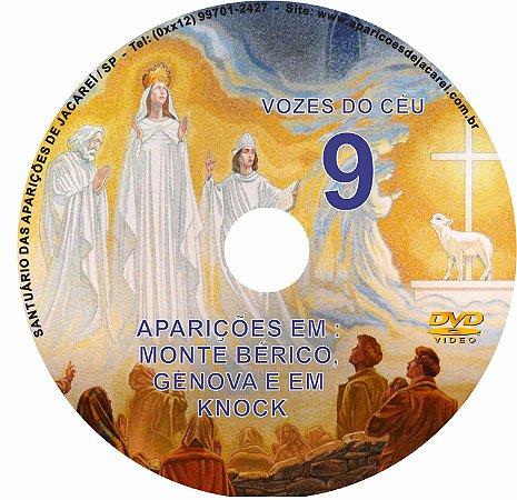 DVD VOZES DO CÉU 09- Filme das Aparições de Nossa Senhora em Knock- Irlanda e Vicenza -Itália