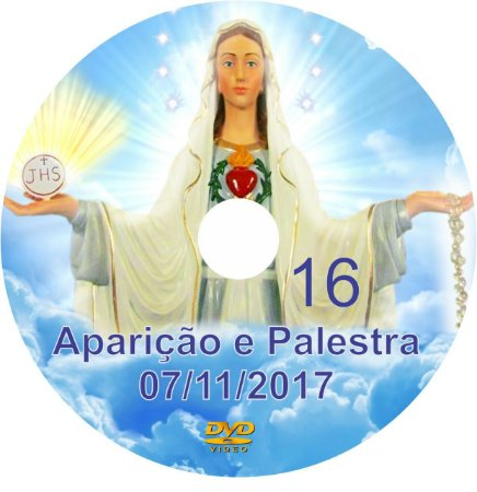 DVD 016-APARIÇÃO E PALESTRA 07/11/17