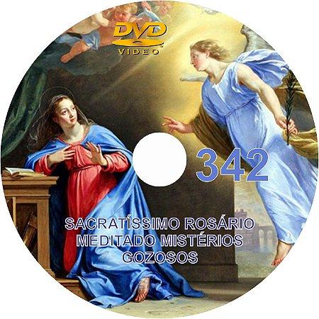 DVD DO SACRATÍSSIMO ROSÁRIO MEDITADO 342 - MISTÉRIOS GOZOSOS