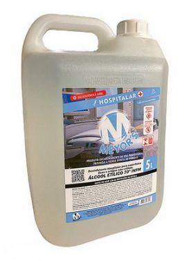 Álcool 70 Líquido Etílico Hidratado 5 litros Meyors