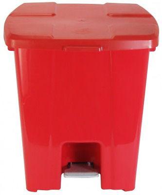 Lixeira Plástica Quadrada com Pedal 30 litros - JSN