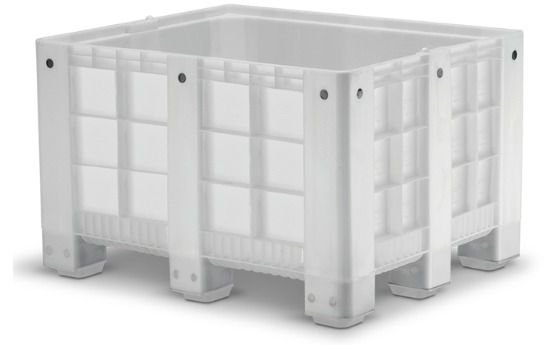Caixa Pallet Plástica Fechada 570 litros