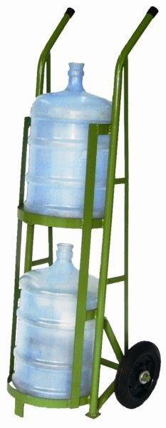 Carrinho para transporte de 2 garrafões de água