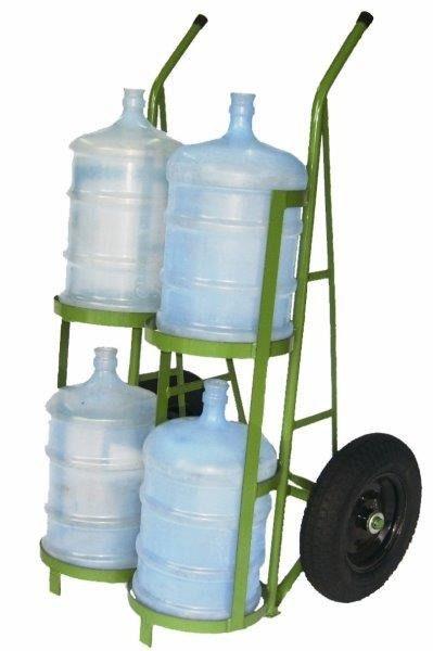 Carrinho para transporte de 4 garrafões de água
