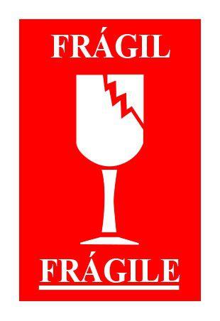 Etiqueta frágil 100x150