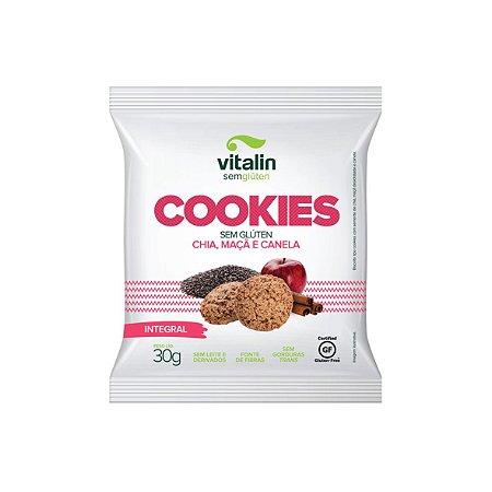 Cookies Chia com Maçã e Canela Integral Vitalin 30g