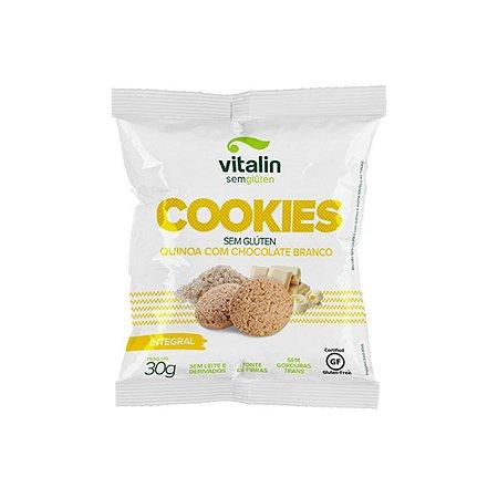 Cookies Quinoa com Chocolate Branco Integral Vitalin 30g