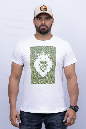 Camiseta Teras Kings Leão Verde e Branco