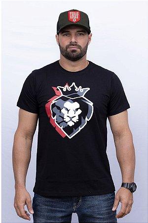 Camiseta Teras Kings Leão 3D Preta