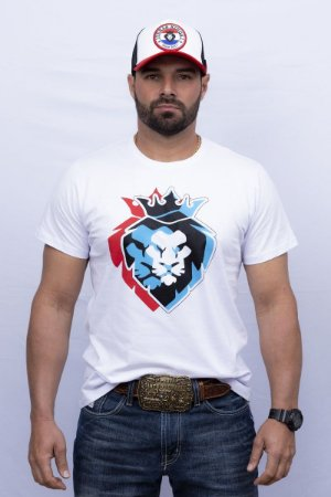 Camiseta Teras Kings Leão 3D Branca