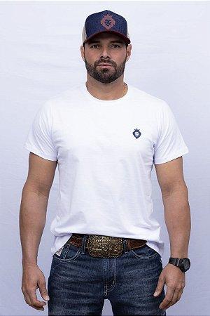 Camiseta Teras Kings Leão Tradicional Branca/Azul Marinho