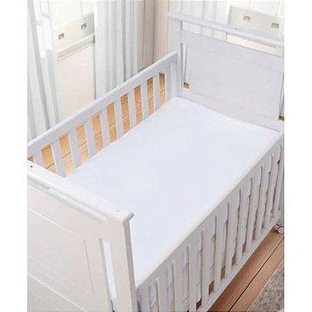 Lençol Branco Liso 100% algodão - Carícia Baby Malhas