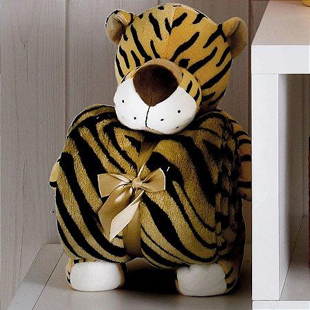 Kit Manta com Bichinho de Pelúcia Tigre Bouton Baby
