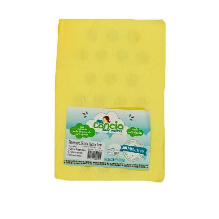 Travesseiro Liso Amarelo Caricia Minasrey