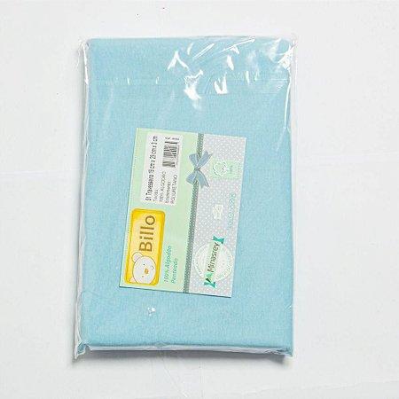 Travesseiro Básico Liso Azul Billo - Minasrey
