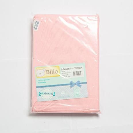 Travesseiro Básico Liso Rosa Billo - Minasrey