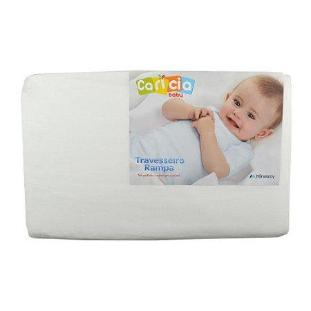 Travesseiro Rampa Carícia Baby 59X36X8 Branco - Minasrey