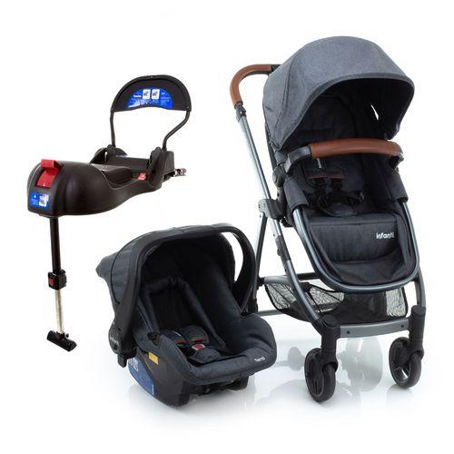 Carrinho De Bebê Epic Lite Trio Grey Vintage - Infanti
