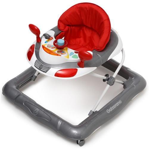 Andador Infantil Para Bebê Regulável Liam Cinza - Galzerano
