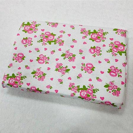 Travesseiro Para Bebê Antissufocante Carícias Malhas Floral Rosa