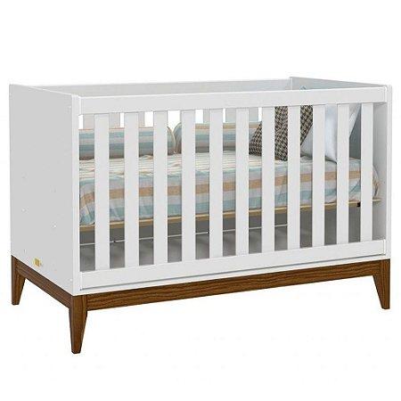 Berço Nature - Branco Soft/Eco Wood - Matic Móveis