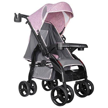 Carrinho de Passeio Upper Rosa - Tutti Baby