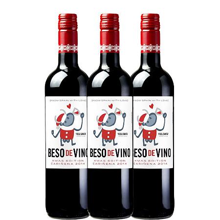 Kit 3 Vinhos  Beso de Vino Xmas Edition - Espanhol