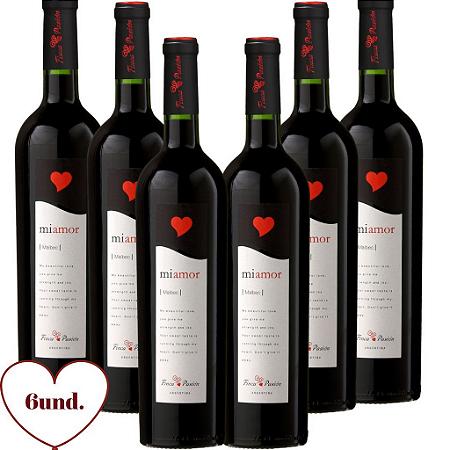 kit com 6 vinhos  Finca Passion MiAmor  Malbec
