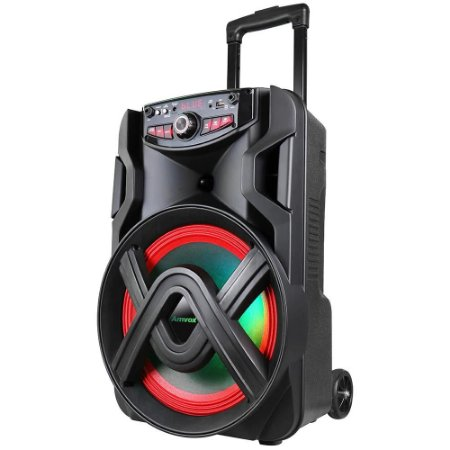 Caixa de Som Amvox ACA 401 Tsunami Bluetooth - Amplificada 400W USB