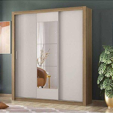 Guarda Roupa Casal com Espelho 3 Portas Vero Demóbile