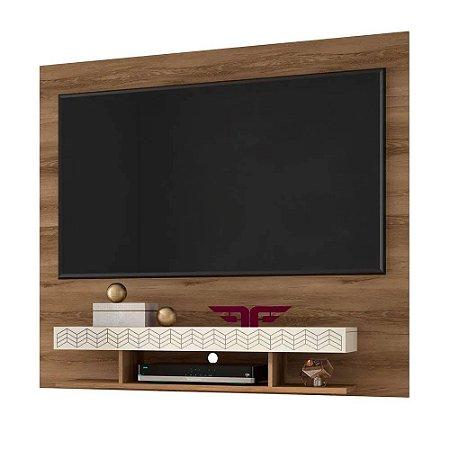 Painel Home Suspenso para TV até 47/50 Polegadas Clean Canela/Off White - Frade Movelaria