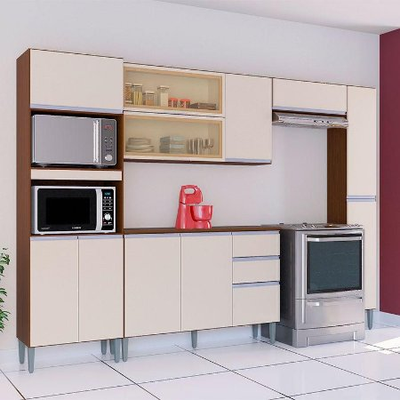 Cozinha Compacta Anita 4 Peças 8 Portas 1 Gaveta Poquema