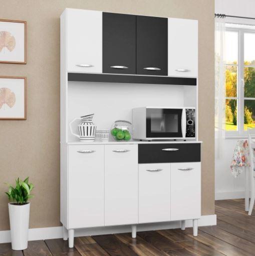 Cozinha Compacta Cássia 8 Portas 1 Gaveta Poquema