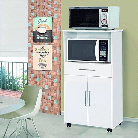 Balcão de Cozinha Móveis Primus para Microondas e Forno Elétrico com 2 Portas e 1 Gaveta Ipe