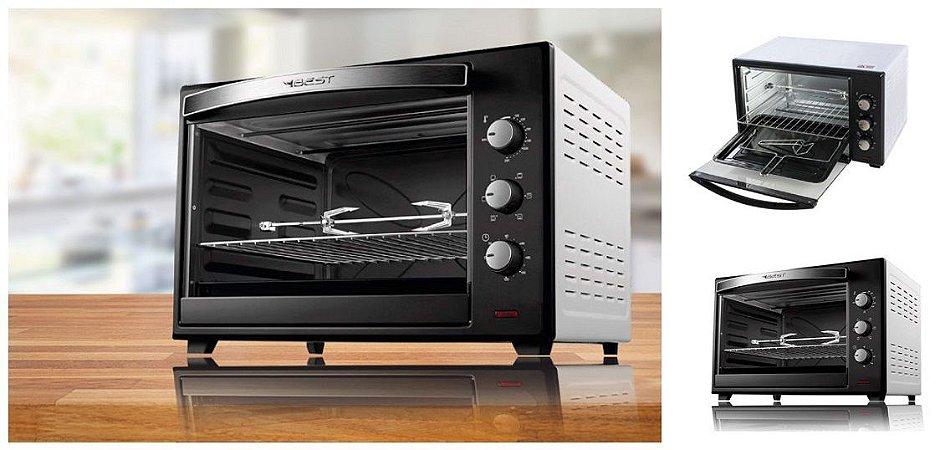 Forno Eletrico Best 60 Litros Plus Preto/Branco 220V com grill