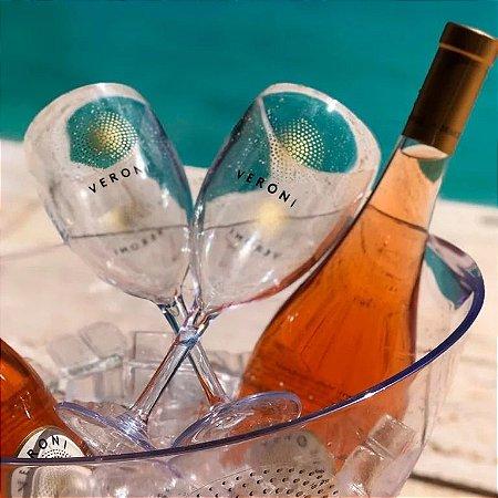 Kit Veroni Rosé (4 vinhos rosé) + 2 Taças