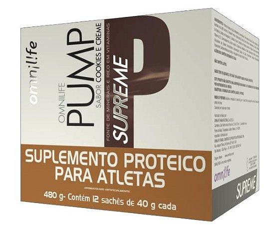 PUMP SUPREME, CX  COM 12 SACHES, 600G - OMNILIFE