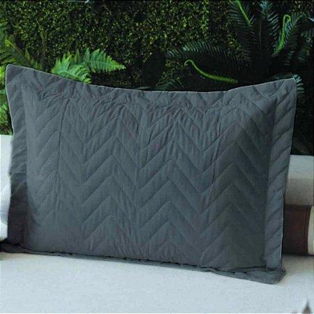 Porta Travesseiro Microfibra Grafite Fox