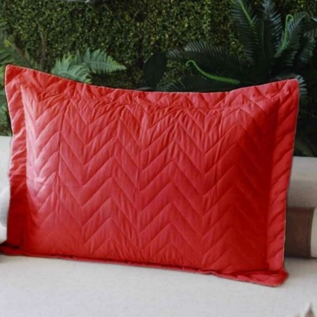 Porta Travesseiro Microfibra Vermelho Fox