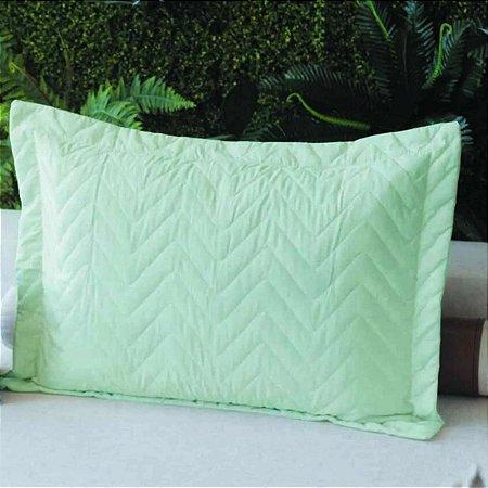 Porta Travesseiro Microfibra Verde Água Fox
