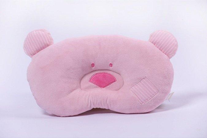Travesseiro Baby Urso Rosa Zip
