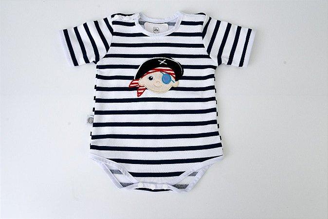Body Pirata Manga Curta P Zip