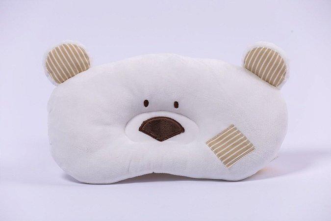 Travesseiro Baby Urso Branco Zip