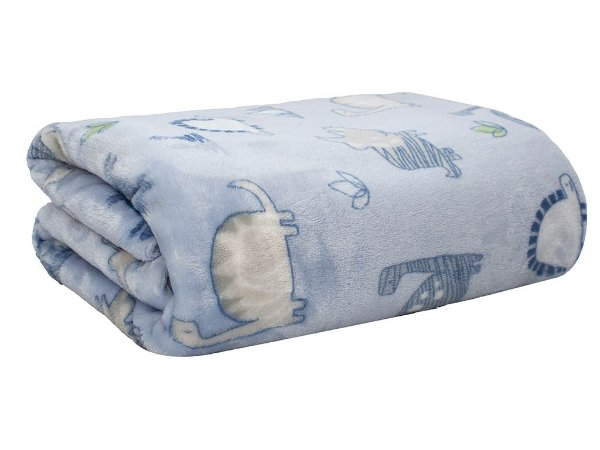 Cobertor Baby Dino Flanel Azul - Camesa