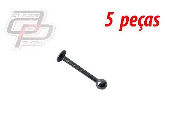 Piercing Labret 12mm - Espessura 1.2  (5 peças)
